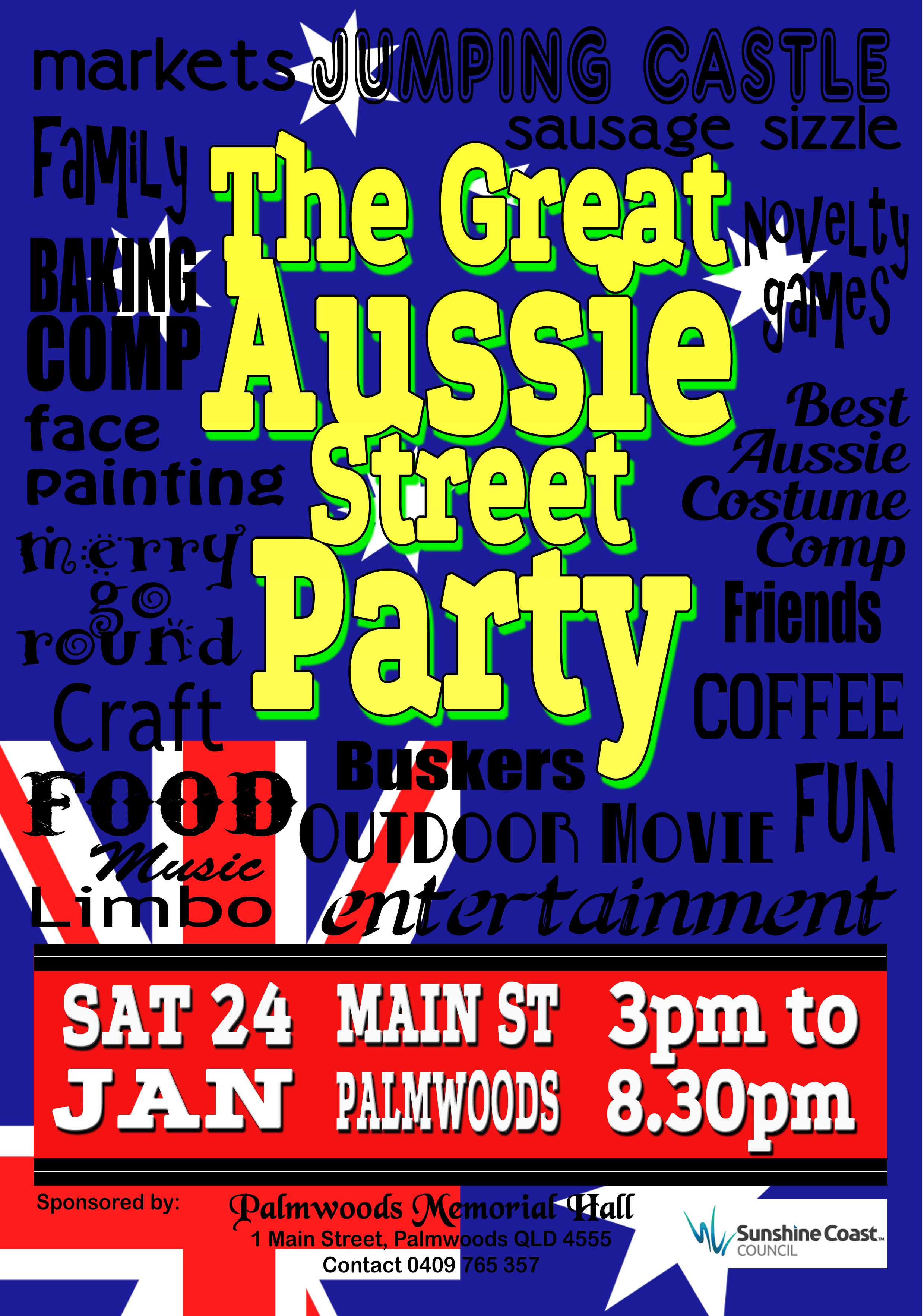 Aussie Street Party Flyer